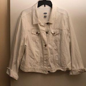Old navy white denim jacket size XXL